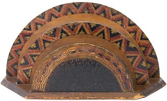 One Kings Lane Vintage Hand-Carved Folk Art Desk Letter Holder