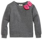 Kate Spade Girls' French Terry Bow Sweatshirt - Sizes 7-14