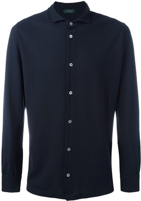Zanone Long-Sleeved Spread-Collar Shirt