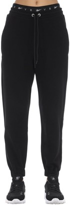 Reebok x Victoria Beckham Logo Cropped Cotton Track Pants