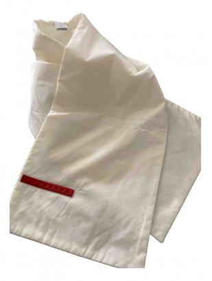Prada White Polyester Scarves