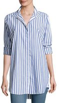 MiH Jeans Oversized Striped Cotton Shirt, Blue/White