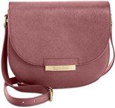 Calvin Klein Saffiano Leather Saddle Bag