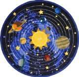 Joy Carpets Kid Essentials Geography & Environment Round Cosmic Wonders Rug, Black, 7'7 by Joy Carpets