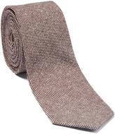 Isaac Mizrahi Brown Linen Tie