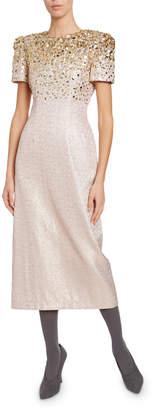 Dries Van Noten Degrade Encrusted Sparkly Midi Dress