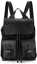 Aspinal of London Shadow Rucksack Black Nubuck