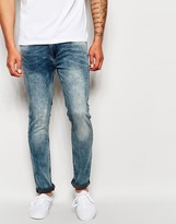 Religion Noize Skinny Fit Washed Jeans