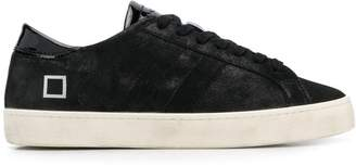 D.A.T.E Hill Low patent tongue sneakers