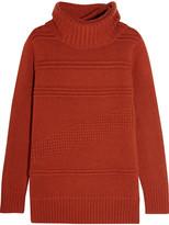 Diane von Furstenberg Talassa Wool And Cashmere-blend Turtleneck Sweater - Brick