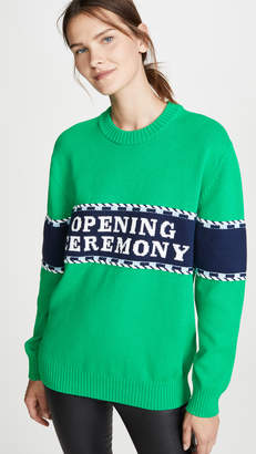 Opening Ceremony Logo Stripe Sweater
