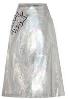 Christopher Kane Metallic Skirt With Appliqué