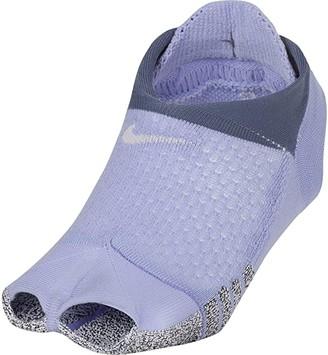 Nike Studio Toeless Footie (Black/Anthracite) Women's Crew Cut Socks Shoes