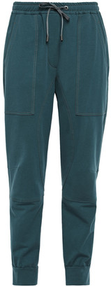 Brunello Cucinelli Bead-embellished French Cotton-blend Terry Track Pants