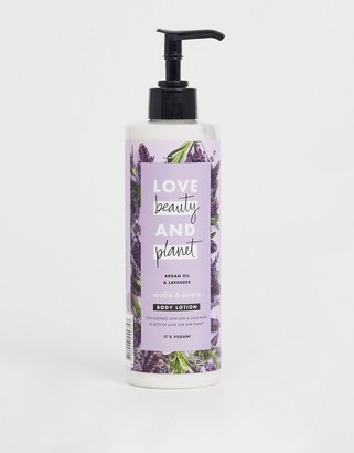 Love Beauty Planet Love Beauty and Planet Soothe & Serene Argan Oil & Lavender Body Lotion 400ml