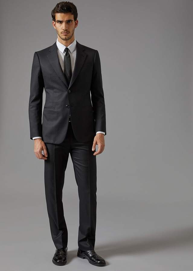 Giorgio Armani Trader Blu Suit In In Batavia Twill