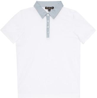 Loro Piana Kids Stretch-cotton polo shirt