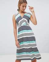 Gilli Stripe Midi Skater Dress