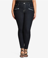 City Chic Trendy Plus Size Dark Wash Skinny Jeans