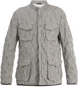 Giorgio Armani Stand-collar checked jacket