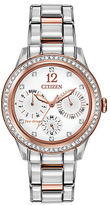 Citizen Ladies Eco Drive Two Tone Watch with Swarovski Crystals