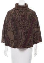 Etro Printed Wool Poncho