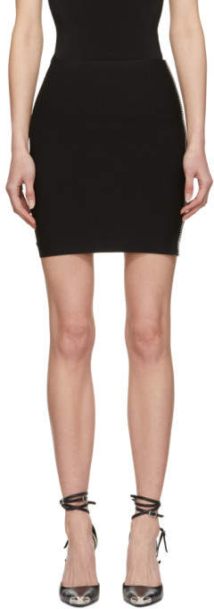 Alexander Wang Black Ball Chain Miniskirt