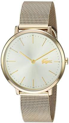 Lacoste Women's 'MOON ULTRA SLIM' Quartz and Stainless-Steel-Plated Casual Watch