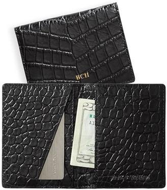 Mark & Graham Chelsea Croc-Embossed Folded Wallet
