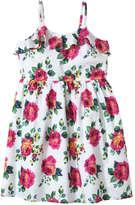 Joe Fresh Kid Girls' Ruffle Sundress, White (Size 8)
