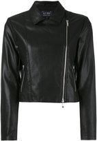 Armani Jeans classic biker jacket - women - Polyester/Polyurethane/Viscose - 44