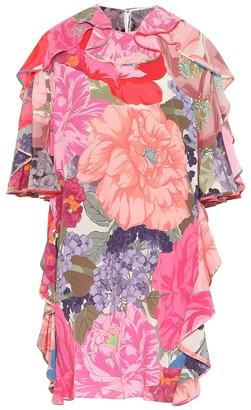 Valentino Floral silk minidress