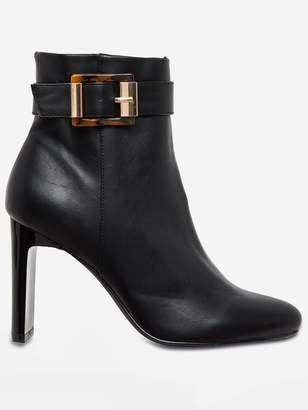 Dorothy Perkins Antwerp High Heel Buckle Boots - Black