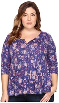 Lucky Brand Plus Size Floral Swing Top