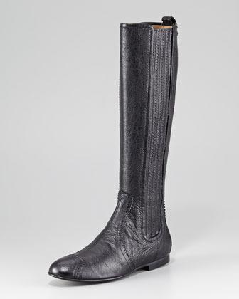 Balenciaga Arena Leather Knee Boot