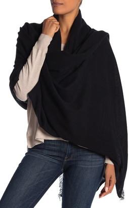 Portolano Eyelash Trim Cashmere Blanket Scarf