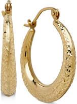Macy's Decorative Design Hoop Earrings in 10k Gold