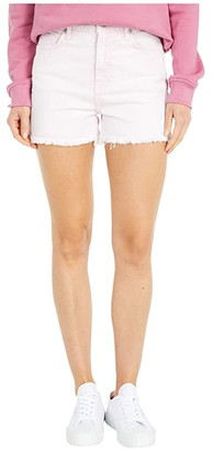 7 For All Mankind High-Waist Shorts with Fray Hem in Mineral Pink (Mineral Pink) Women's Shorts