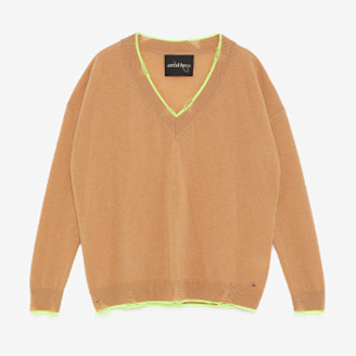 Otto D Ame - Beige Contrasting Trims Wool Sweater - beige | virgin wool / cashmere | xl - Beige