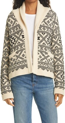 The Great Lodge Fair Isle Open Front Cardigan