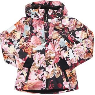 Molo Floral Print Nylon Ski Jacket