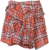 Faith Connexion plaid mini skirt