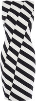 Karen Millen Barcode Dress - Black & White