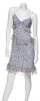 Vera Wang Silk Chiffon Ruffle Slip Dress