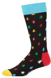 Happy Socks Men's Conifer Tree Crew Socks