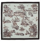 The Well Appointed House Giraffe Silk Scarf in Black and Gray-ON BACKORDER UNTIL MID-JULY 2016