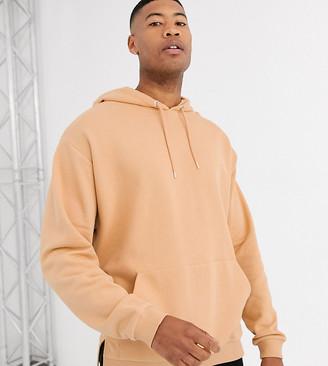 BEIGE Asos Design ASOS DESIGN Tall oversized hoodie in with split hem