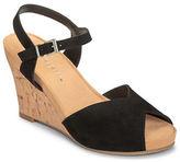 Aerosoles Bloom Plush Platform Suede Sandals