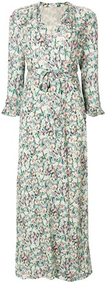 Vilshenko Floral Wrap Dress