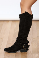 Not Rated Black Buckle Boots